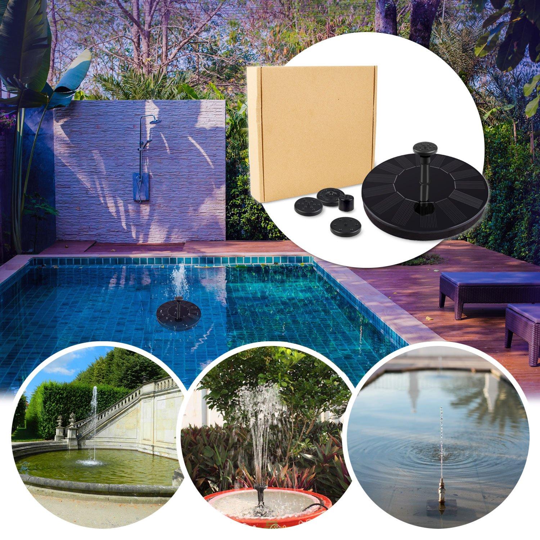 Micnaron 2018 NEW Design Solar Power Pump, Bird bath Fountain Pump Brushless Pump for Garden and Patio Watering (Black) by Micnaron (Image #7)