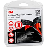 3M Dual Lock SJ387B Système Ouvrable et Refermable 25 mm x 2,5 m Noir