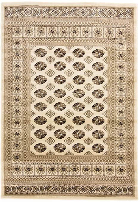 Carpetfine Pakistan Buchara Teppich 160x230 Cm Beige Ornament