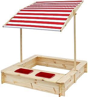 Beluga Spielwaren 50380 Sandkasten Mit Wasser Matsch Bereich Und Rot Weissem Dach