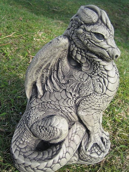 neilsstonecraft Figura de dragón de Piedra para jardín: Amazon.es: Jardín