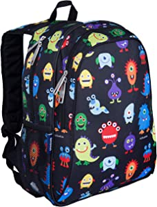 Wildkin Kids 15 Inch Backpack for Boys and Girls, Perfect Size for Preschool, Kindergarten and Elementary School, 600-Denier Polyester Fabric Backpacks, BPA-free, Olive Kids (Monsters)