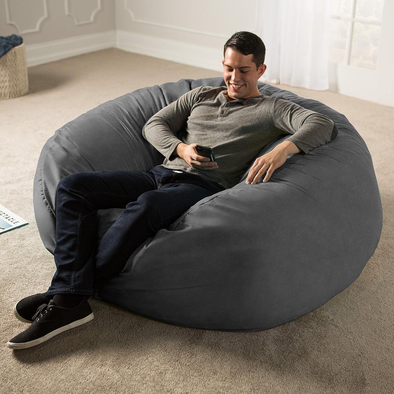 Jaxx 5 Foot Saxx - Big Bean Bag Chair for Adults, Charcoal