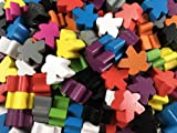 Apostrophe Games 100 Multi-Color Wooden Meeples
