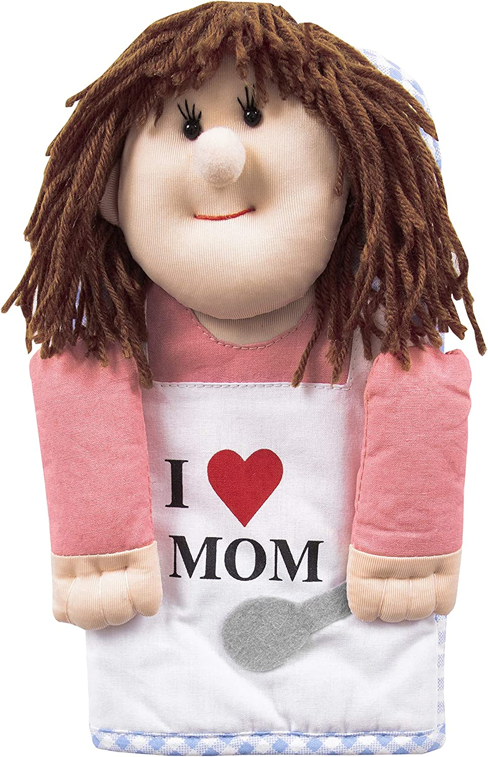 """Ritz Kitchen Friends Novelty Cotton Oven Mitt, Decorative Item Only, Great Gift for Mom, Kitchen Decoration, Mothers Day Present, Gifts for Women 6"""" x 11"""", Mom, Single Unit"""