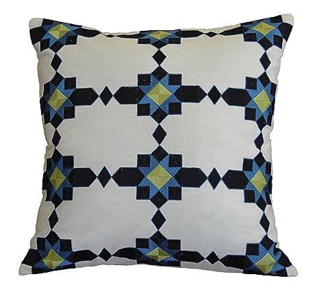 Amazon.com: AM Home 0424 mosaico almohada bordada: Home ...