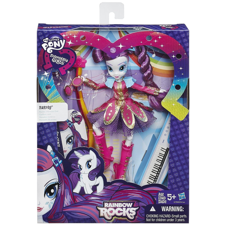 Amazoncom My Little Pony Equestria Girls Rainbow Rocks Rarity - Rockin hairstyles dolls