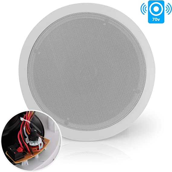 """TDX 3/"""" 2-Way In-Ceiling Home Theater Audio Speaker Flush Mount White 4 Pack"""