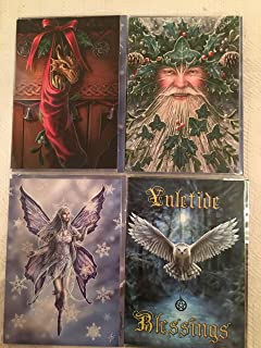 Celebrate winter solstice cards pack of 20 cards 4 of each design pack of 4 anne stokes yule cards m4hsunfo