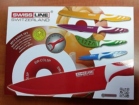 Compra Swiss Line con 5 pc juego de cuchillos de acero inoxidable ...