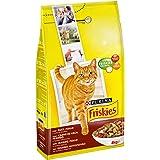 Friskies Adult Crocchette per il Gatto, con Manzo, Pollo e Verdure Aggiunte, 4 kg