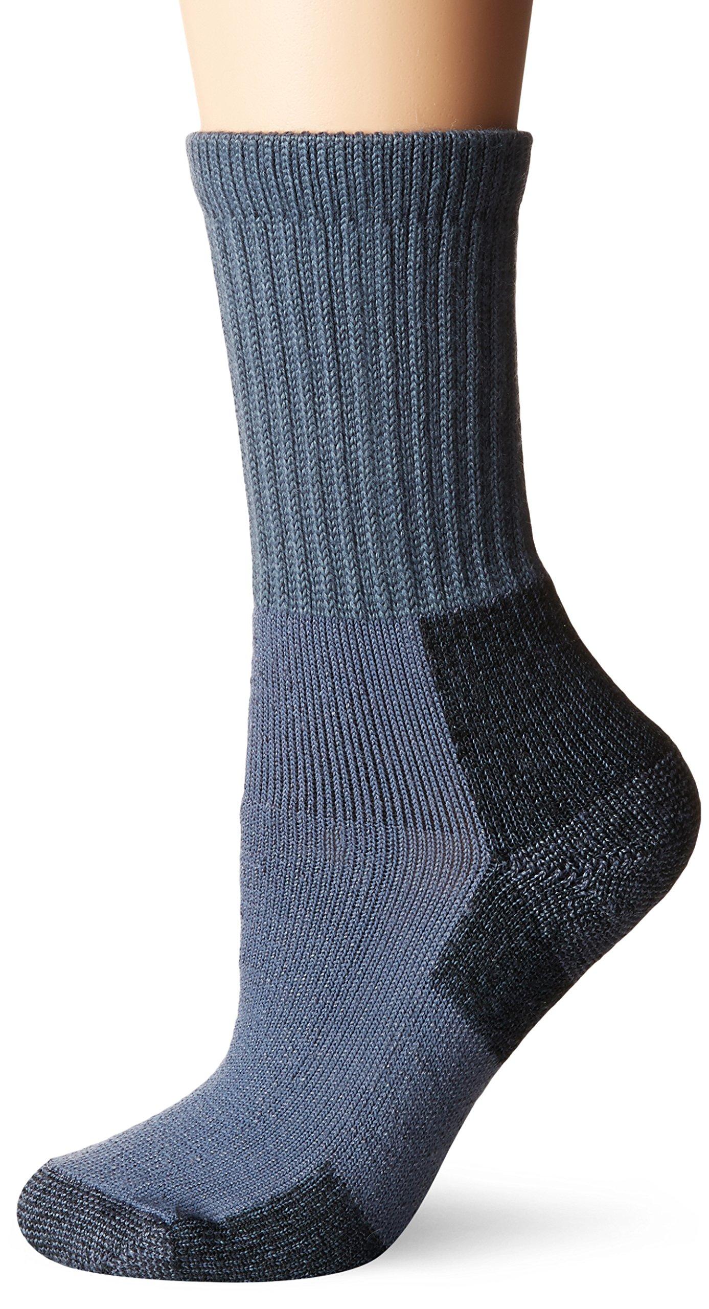 Thorlos Women's KX Hiking Thick Padded Crew Sock, Slate Blue, Medium