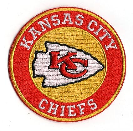 quality design 9be54 3bfa1 Amazon.com: Kansas City Chiefs Round Iron-on NFL Football ...