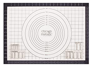 Chicago Metallic Silicone Pastry Mat with Measurements,