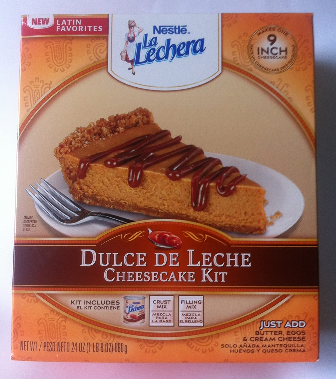 Amazon.com : Limited Edition Nestle La Lechera, Dulce De Leche Cheesecake Kit : Cake Mixes : Grocery & Gourmet Food