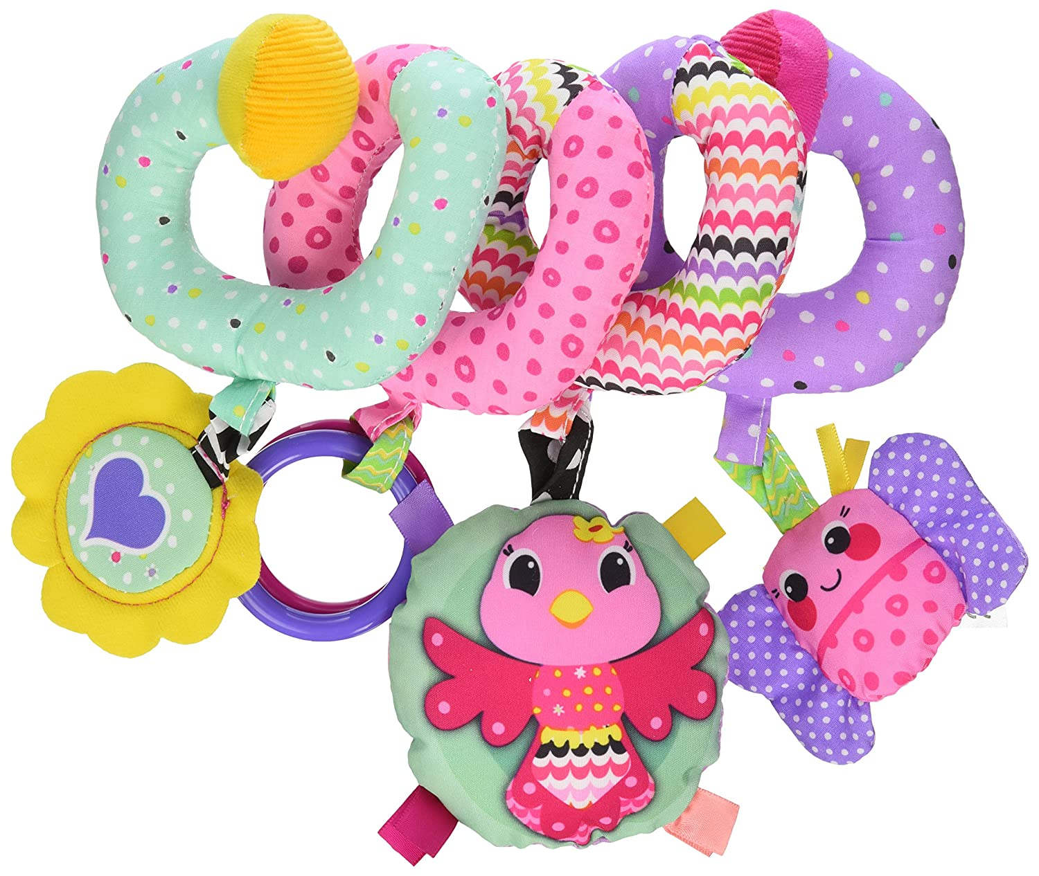 Baby Activity Toys : Infantino spiral activity toy pink hanging baby toys car