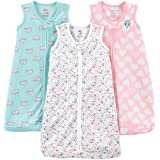 Simple Joys by Carter's Baby-Girls 3- Pack Cotton Sleevless Sleepbag