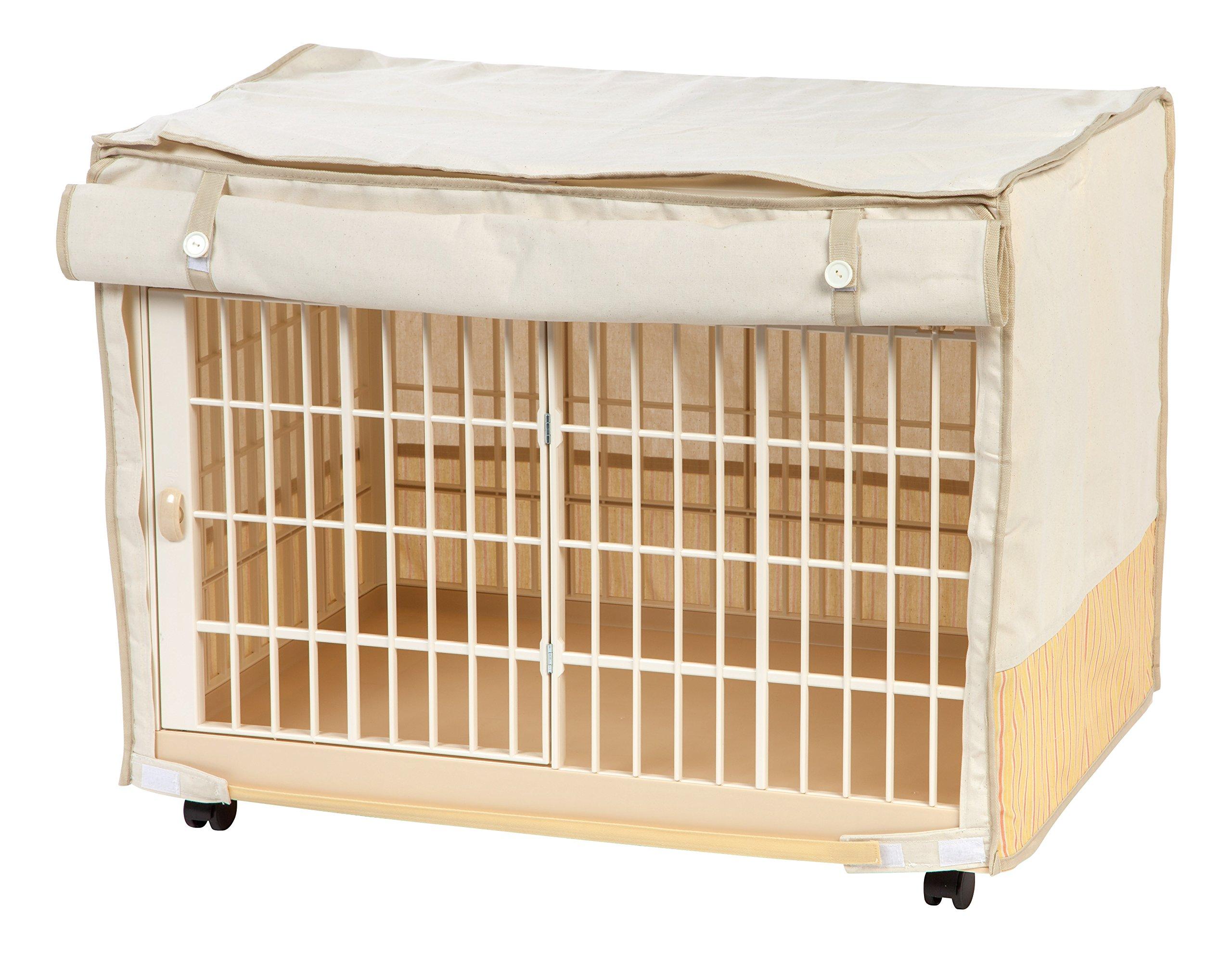 IRIS Covered Plastic Animal Cage, White, Small