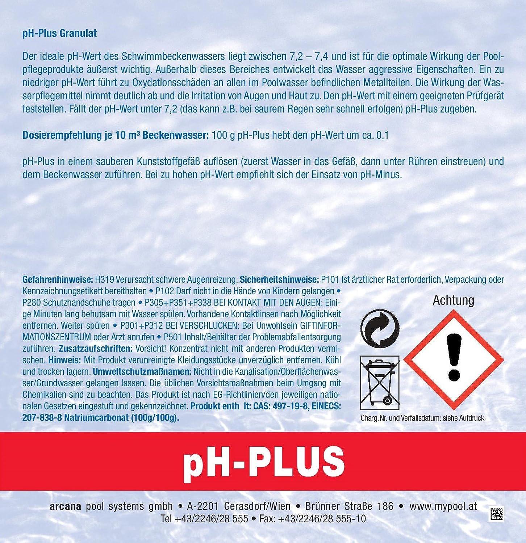 pH-Plus Granulat 5kg Preis/kg nur 2,49 EUR: Amazon.de: Garten