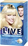 Schwarzkopf LIVE Intense Lightener Permanent 00A Absolute Platinum - Pack of 3