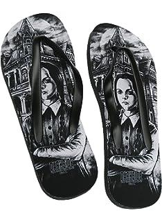 Darkside Clothing Ouija Board Alternative Gothic Occult Satanic Adults Flip Flops Sandals