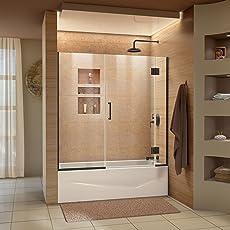 DreamLine Unidoor-X 58-58 1/2 in. W x 58 in & Bathtub Sliding Doors   Amazon.com