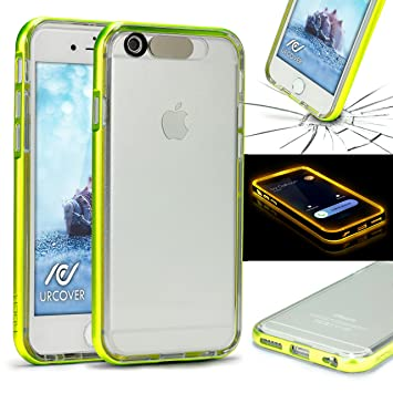 Funda de Luces iPhone 6 Plus / 6s Plus , URCOVER Carcasa Transparente Flash Case Apple iPhone 6 Plus / 6s Plus Brillante llamada de Espera Luminosa ...