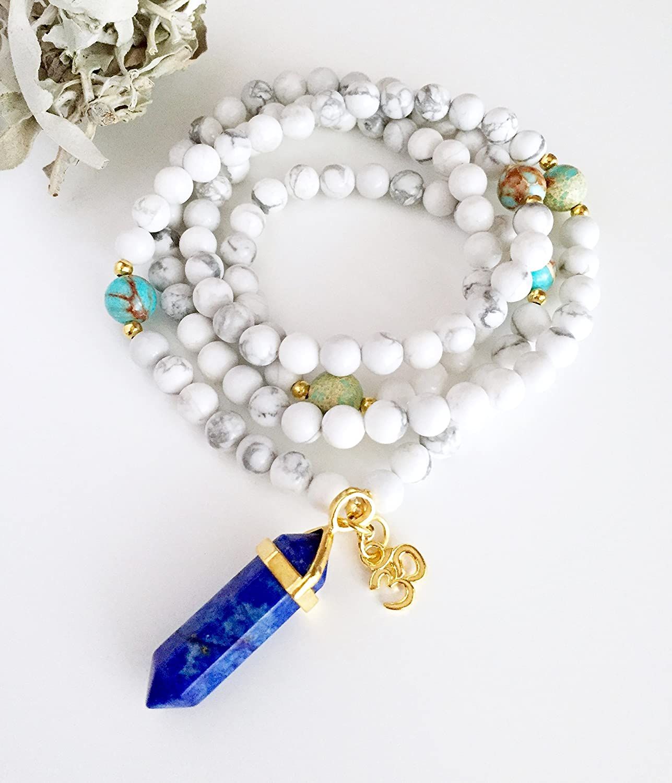 Amazon.com: 108 Mala, Mala Necklace, Mala beads,Yoga gift ...