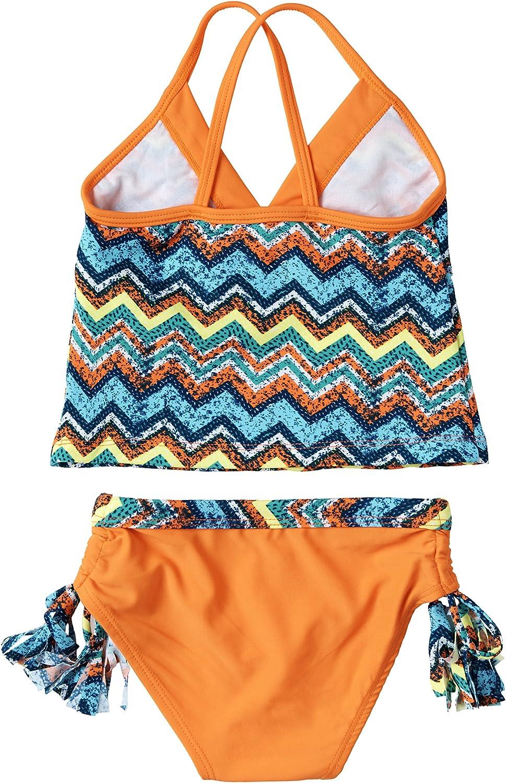 Big Chill Little Girls UV Protection Tankini Summer Swimwear Two Piece Swimsuit