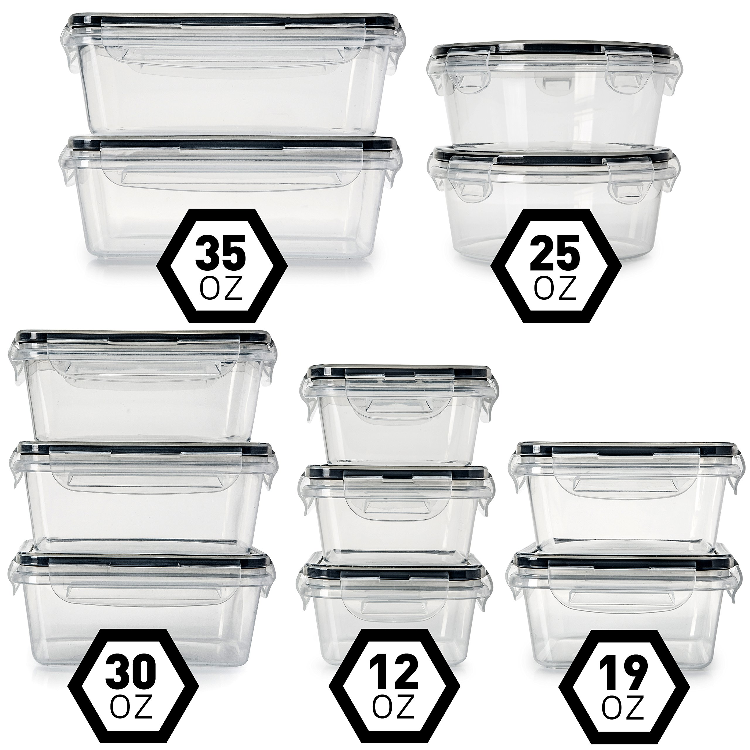 Fullstar 12 Pack Food Storage Containers With Lids