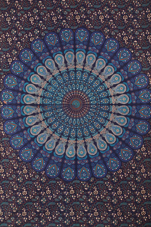 Janki Creation Cortinas Decorativas para Ventana dise/ño de Cortinas 125 cm x 208 cm dise/ño de Bohemio tama/ño Doble