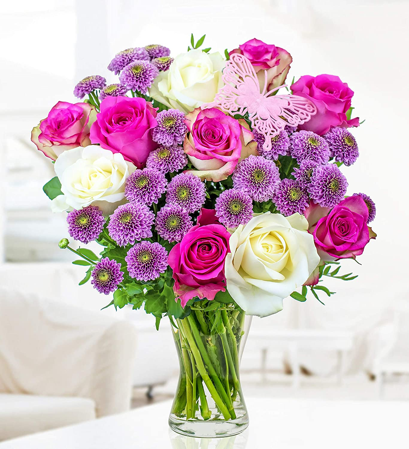 Free Chocs Rose and Lily Bouquet Next Day Flower Delivery Flower Delivery