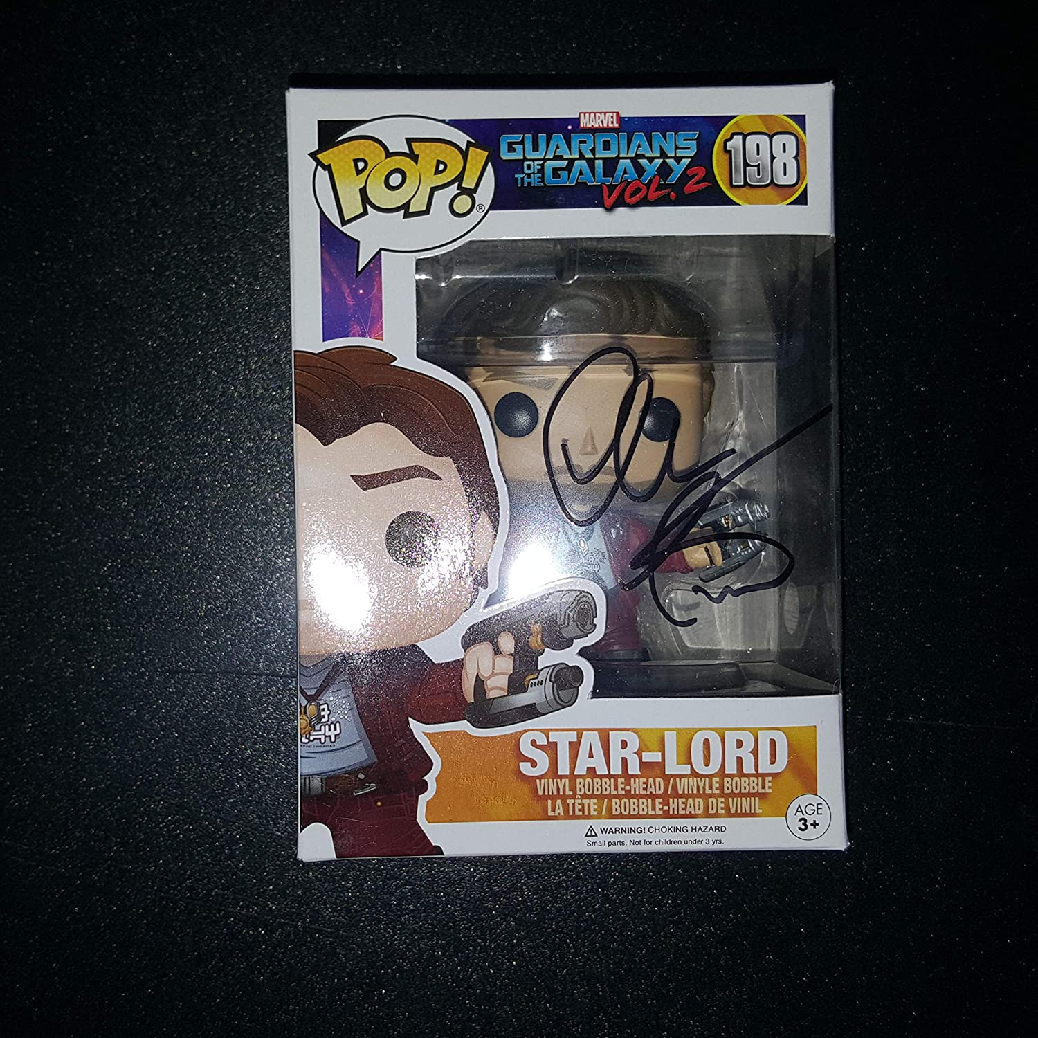 CHRIS PRATT - Autographed Signed STAR LORD FUNKO POP 198 Vinyl Figure GUARDIANS OF THE GALAXY VOL 2 COA