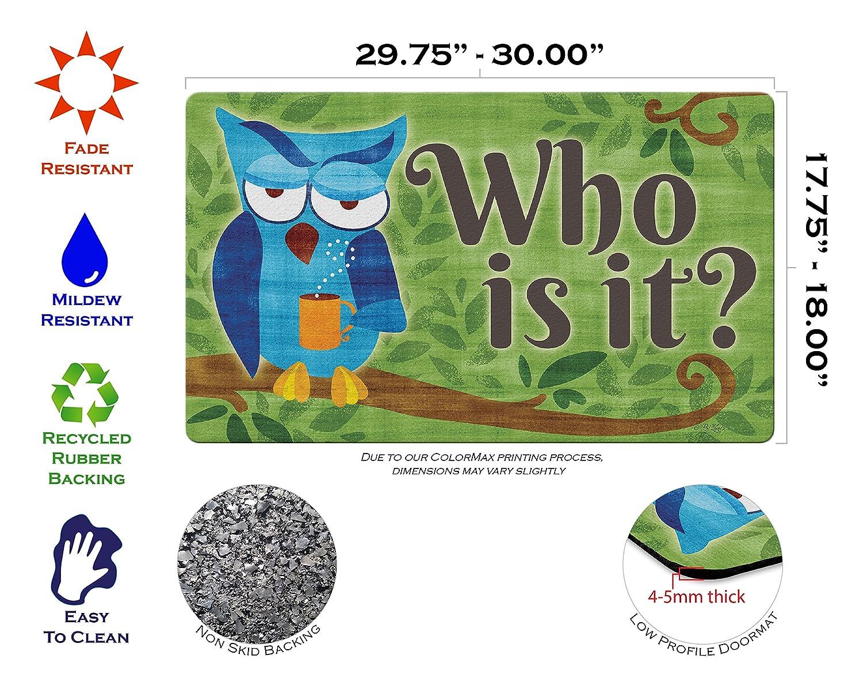 18 x 30 Multicolor Toland Home Garden 800454 Punny Owl Doormat