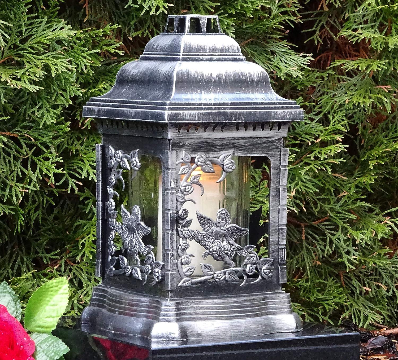 *Grablaterne Grablampe Grableuchte  Grablicht Schutzengel Kerze Herz Blume Engel