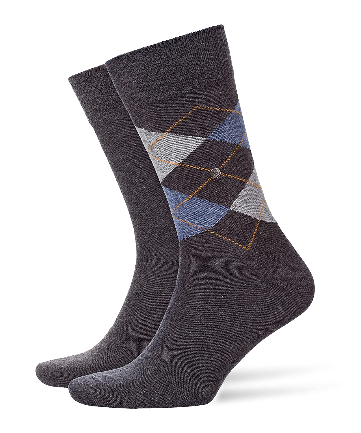 Burlington Men's Everyday Argyle-uni Mix 2er Pack Socks FALKE KGaA 21044