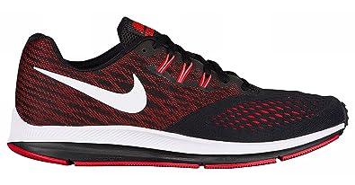 finest selection d3261 f9bdb NIKE Men's Air Zoom Winflo 4 Running Shoe, Black/University Red/Total  Crimson/White Size 8