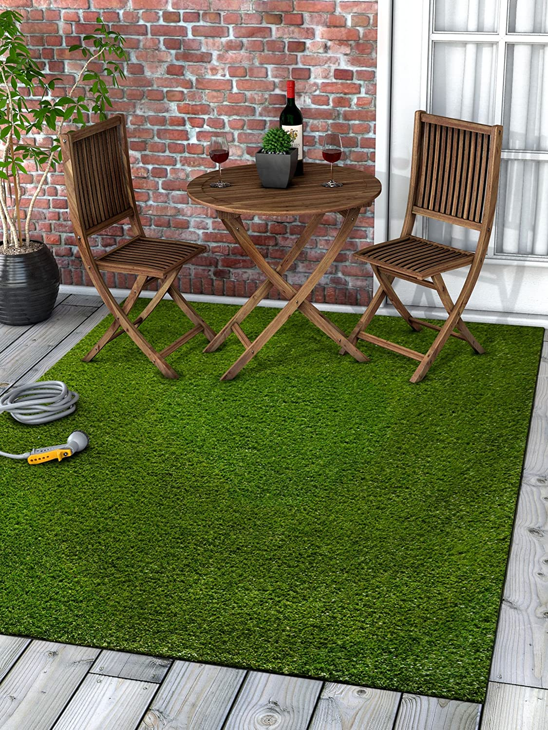 27 x 77 Runner Well Woven Super Lawn Artificial Grass Indoor//Outdoor Synthetic Turf Fade Resistant Easy Care 2x7