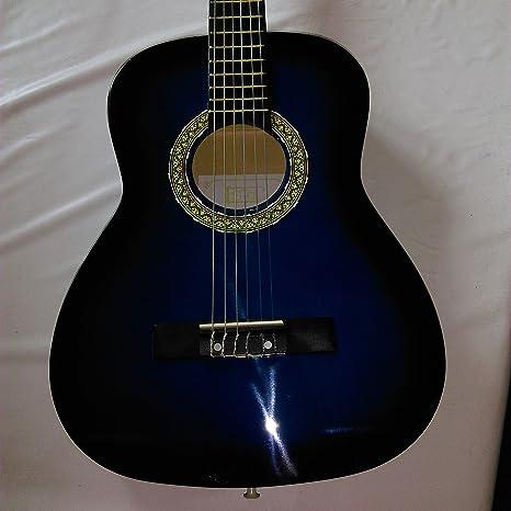 Guitarra clásica – Formato 1/2 – Color azul y negro: Amazon.es ...