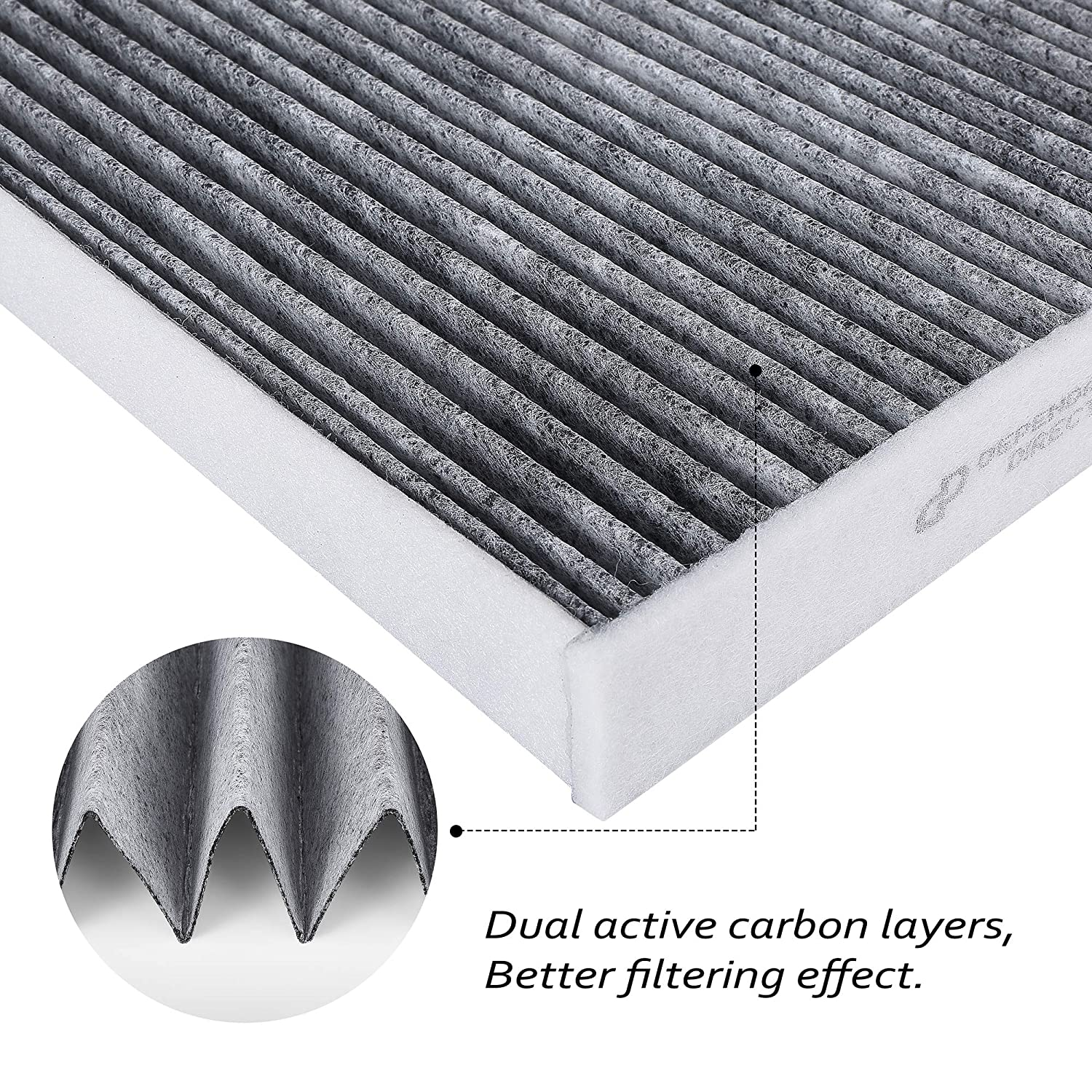CF11809 Premium Cabin Air Filter with Activated Carbon Chevy Silverado SEE FITMENT LIST GMC Sierra OEM# 23281440 2014-2018 Suburban Replacement for Cadillac Escalade Tahoe 22808780