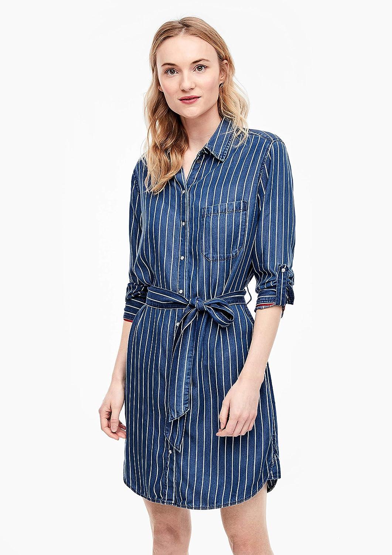 s.Oliver Kleid Robe Femme 57g0 Stoker Blue Stripe