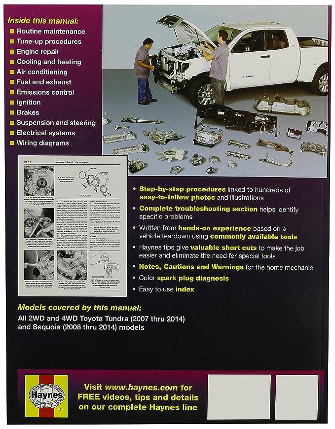 amazon com: haynes repair manuals toyota tundra 2007-2014 and sequoia 2008-2014  (92179): automotive