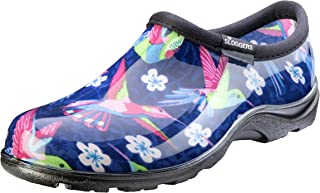 product image for Sloggers Women's Waterproof Rain and Garden Shoe with Comfort Insole, Hummingbirds Pink, Size 7, Style 5117HUMPK07
