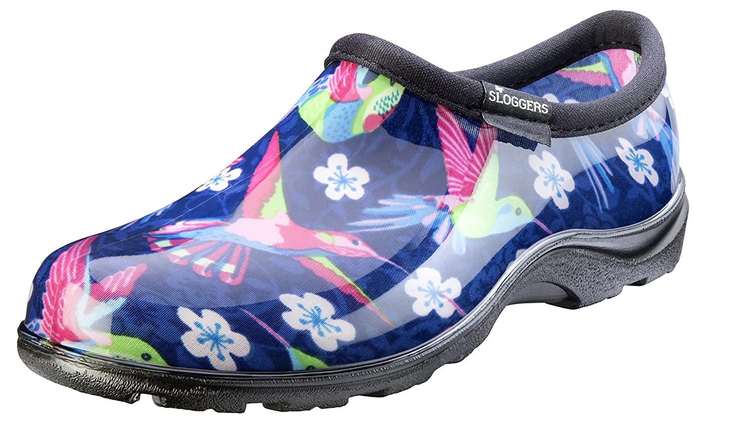 Sloggers Waterproof Rain & Garden Clogs Shoes, Hummingbird, Hummingbirds, 8 - Made in The USA