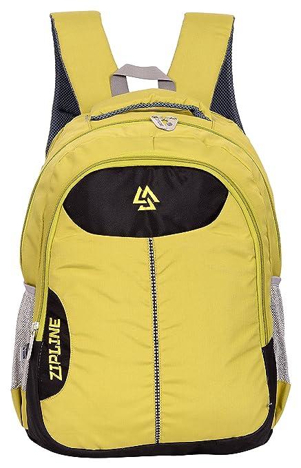53bfe489bc ZIPLINE Unisex Casual Polyester 38 L Backpack School Bag Women Men Boys  Girls Children Daypack College Bag Weekend Bag (Parrot Green): Amazon.in:  Bags, ...