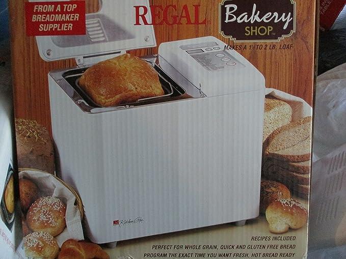regal kitchen pro breadmaker manual 6730