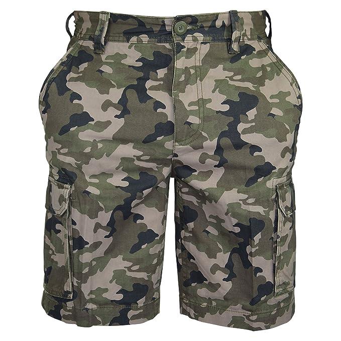 Pantalones cortos de algodón para hombre, de estilo informal, militar, de trabajo, pantalones cargo, combate, camuflaje,