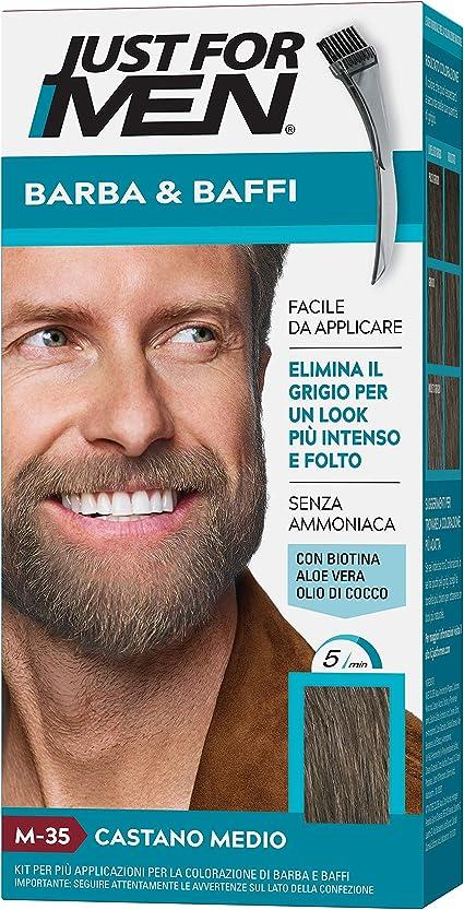 Just for Men - Bigote y barba M35 - Coloración para barba castaño medio 28 g – Lote de 2