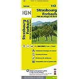 IGN 1 : 100 000 Strasbourg Forbach: Top 100 Tourisme et Découverte. Patrimoine historique et naturel / Courbes de niveau / Routes et chemins / Itinéaires de randonnée / Compatible GPS