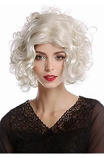 WIG ME UP ® - 1352-ZA613 Peluca Mujer Carnaval Halloween Diva Hollywood Corta rizada